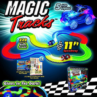 Kids track toys , unbreakable tracks , glows in the dark , magic tracks