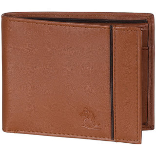 Kara Mens Tan Bi-fold PU wallet