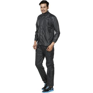 REXBURG Stylish Monsoon Mens Rain Coat (Grey) absolute comfortable and made with 100% Water Proof material. (XL Size)