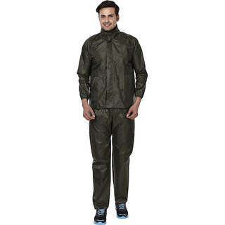 REXBURG Stylish Monsoon Mens Rain Coat (Green) absolute comfortable and made with 100% Water Proof material. (XL Size)