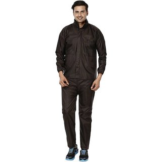 REXBURG Stylish Monsoon Mens Rain Coat (Brown) absolute comfortable and made with 100% Water Proof material. (XL Size)