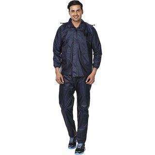 REXBURG Stylish Monsoon Mens Rain Coat (Blue) absolute comfortable and made with 100 Water Proof material. (XL Size)