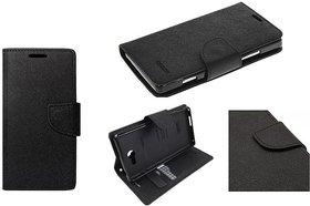 Mercury Goospery Fancy Diary Wallet Flip Cover for REDMI  A1 - black