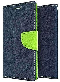 Mercury Goospery Fancy Diary Wallet Flip Cover for REDMI  A1 -Blue
