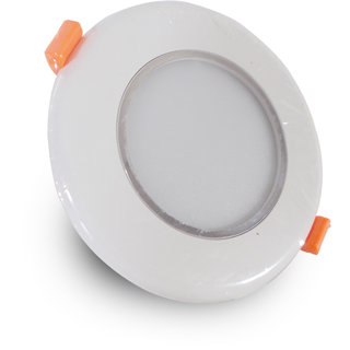 Round Conseal LED Panel Light (Plastic Body With ring) 6W