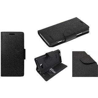 Mercury Diary Wallet Style FlIP Cover Case For Redmi Note 5 PRO (BLACK BROWN)