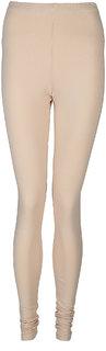 Elite Cream Cotton Leggings for Women's