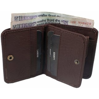 Y Green Brown Single Fold Fabric Wallet For Men