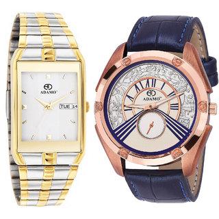 Adamo Legacy Analog Multi-Colour Dial Men's Watch - 9151BM01-326SB50