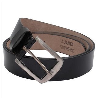 995132935d24e Made in India Good Quality Ajanta Men Casual Formal Black Genuine Leather  Belt (Synthetic leather/Rexine)