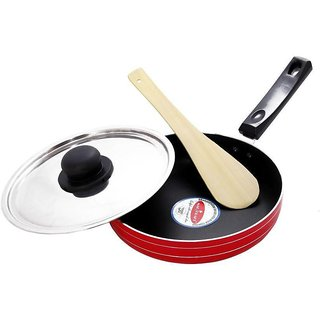 MAGICRAFT NON STICK FRY PAN 2 LTR STAINLESS STEEL LID