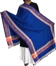 Krish Viscose Stole Shawl Blue For Women