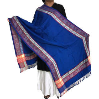 Krish Viscose Stole Shawl Blue For Women