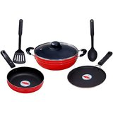 Magicraft Six Piece Non Stick Cookware Set With Glass Lid
