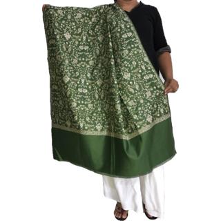 Krish Jamawar Shawl Stole Green For Women
