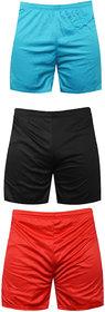 Sports Polyester Multi-colour Shorts,Swimming Shorts,Gym Shorts,Barmunda Set of 3