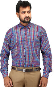 RED-BLUE CASUAL CHECK SHIRT FOR MEN FULL SLEEVE COTTON SHIRT