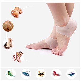 Eco Hometown Moisturizing Silicone Gel Heel Socks For Cracked Feet  Pain Relief Socks