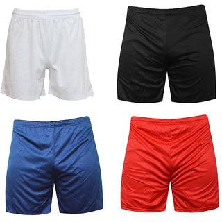 Sports Polyester Multi colour Shorts,Swimming Shorts,Gym Shorts,Barmunda Set of 4