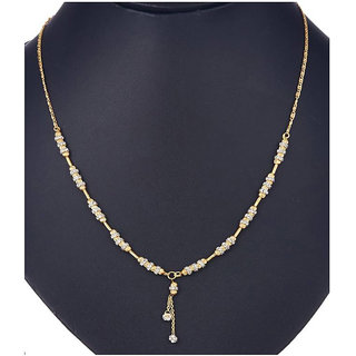 Chrishan High Gold Plated Gorgeous Necklace Chain For Women.