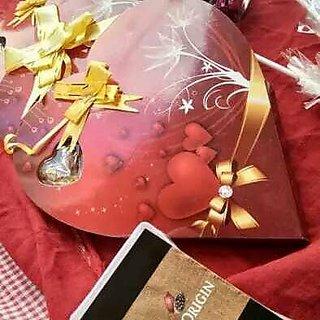 heart shaped dark chocolate