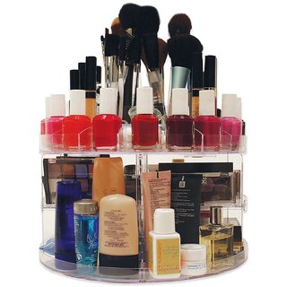 Latest Trendz Rotating Glam Caddy Cosmetic Organizer Hold Up To 200 Items