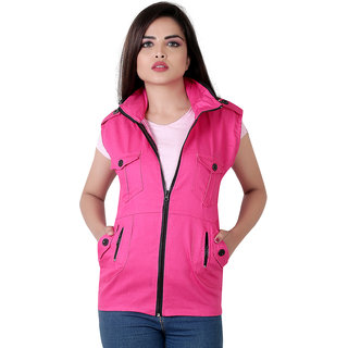 949ce96c15e47e Buy Garun Sleeveless Pink Jacket For Women Online - Get 62% Off