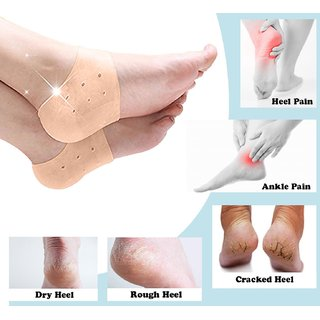 Silicone Gel Pad for Heel Swelling, Dry Hard Cracked Heel Free Size - Set of 1