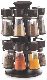 YUVI FASHION POINT 16 Jar Revolving Spice / Masala Rack / Masala Box / Spice Rack