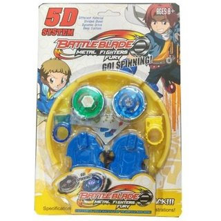 Shribossji Beyblade 5D System Battle Blade Metal Fighter Fury Spinning Toy For Kids (Multicolor)