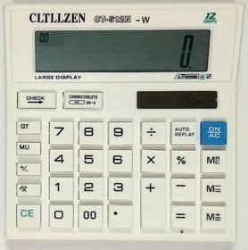 Cltllzen CT 512 N-W Basic Calculator  (12 Digit) White Use Power AAA Cell