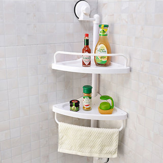 Magic Suction Cup Corner Shelf