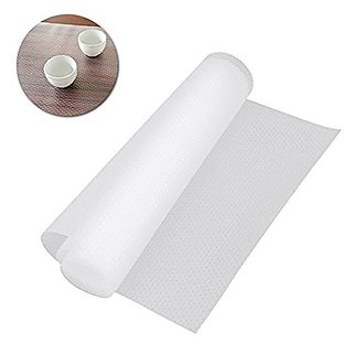 Eco Hometown 1 Piece Useful and Multipurpose FULL LENGTH 5 METER (45 x 500) Anti Slip grip Mat, non slip liner, Skid Resistant Mat - For Fridge, Bathroom, Kitchen, Drawer, Shelf Liner, Cupboard Underlay Liner and Household. Material PVC. Color CLEAR T