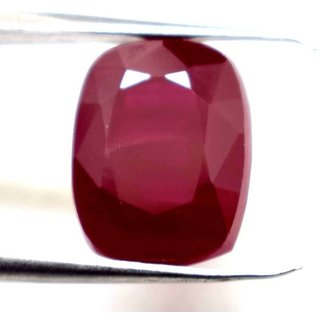 Ceylon Sapphire 13.11 Ratti Ruby Gemstone (Manik Stone) Cushion cut