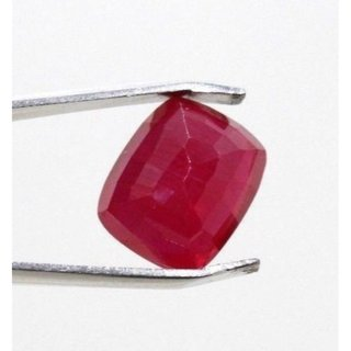 8.39 Ratti Manik Stone (Ruby) Cushion cut by Ceylon Sapphire