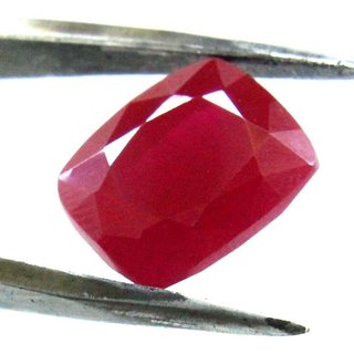 10.25 Ratti Manik Stone (Ruby) Cushion cut by Ceylon Sapphire