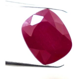 Ceylon Sapphire 11.9 Ratti Ruby Gemstone (Manik Stone) Cushion cut