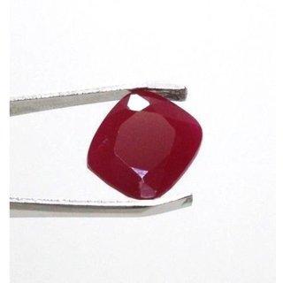 Ceylon Sapphire 12.35 Ratti Ruby Gemstone (Manik Stone) Cushion cut