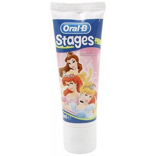 Oral-B Pro-Expert Stages Toothpaste 75ml - Bubble Gum (Disney Princess)