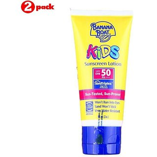 Banana Boat Kids Sunscreen Lotion SPF50 - 90ml (3oz) (Pack of 2)