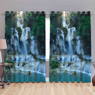 Cloud India 5Ft-Window Curtains Long Crush 3D Set of 2 Piece Polyster Living Room  Bed Room Curtains With Attractive Color