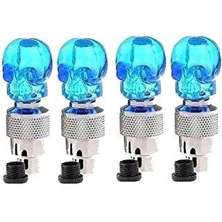STAR SHINE BIKE BLUE SET OF 4 STYLISH  TYRE LED  For Skoda Superb 2012