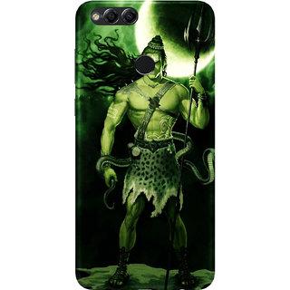 PEEPAL Honor 7x Designer & Printed Case Cover 3D Printing Lord Shiva Design