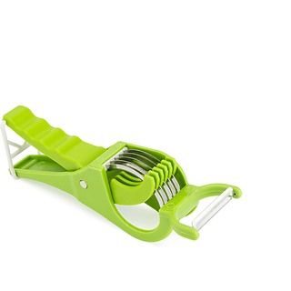 Kitchen Idol Vegetable Cutter With Peeler Green