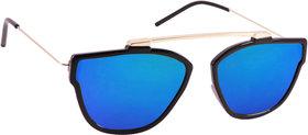 29K Blue Mirrored Rectangular sunglasses