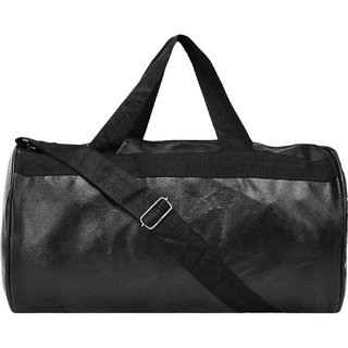 e1ec5262a9 Buy Bum Bat Collection Black Colour Gym Bag Body Building Pu Leather Duffle  Gym Bag Sports Bag for Men and Women for Fitness Online - Get 60% Off