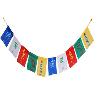 Voila Present Tibetan Square Outdoor Flag Made From Polyester