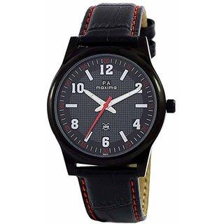 Maxima Analog Black Dial Mens Watch-36612LMGB