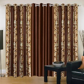 Cloud India 7 Ft Door Supremo Curtains Set of 3 Piece Polyster Living Room  Bed Room Curtains With Attractive Color