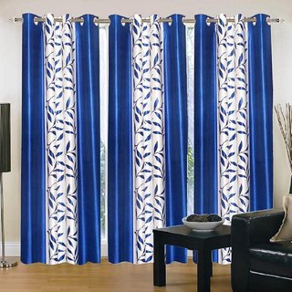Cloud India 9 Ft Long Door Supremo Curtains Set Of 3 Piece Polyster Living Room  Bed Room Curtains With Attractive Color